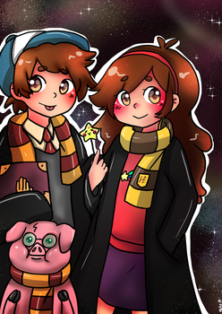 Gravity falls x Harry Potter by cuteVeila