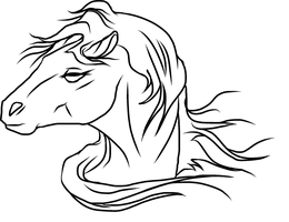 Horse Icon Lineart by RogueDraken