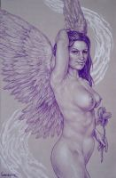 purple angel no. 7 by larkin-art