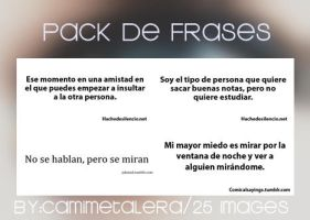 Pack de frases by CamiMetalera