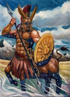 Iroas, God of Victory. by deWitteillustration