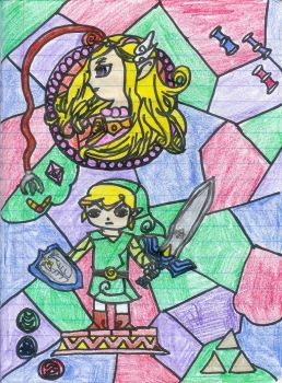 stained glass windwaker by e-Link