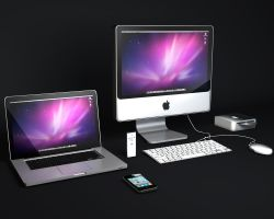 C4D Apple iMac packhere by TonyHarris