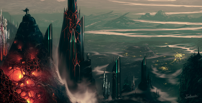 Metal Towers by Frostwindz