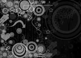 black white vectors wallpaper by alekzis