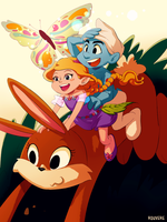 Smurfs: Seraphina and Hefty by student-yuuto