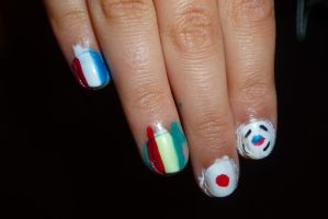 2008 Olympic nails (preclean up) by MadameMalaki