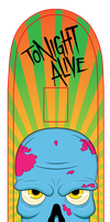 Tonight Alive Skate Deck Design by RLaloo