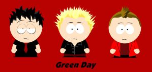 Green Day South Park by killALLthezombies