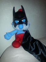 Papa Bat-Smurf by nightwing70