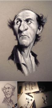 BW Oil Caricature Study by Robolus
