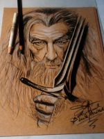 Gandalf ( freehand illustration) by blueprince312