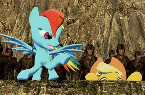 Helm's Deep - Rainbow Dash and Applejack by Neros1990