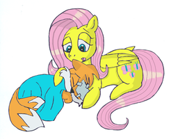 fluttershy's kindness by large-rarge