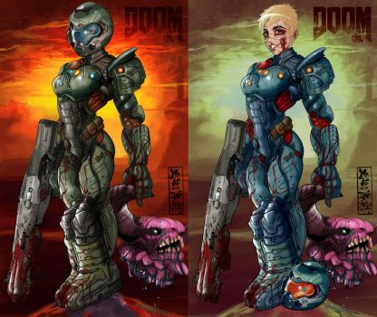 Doom girl double version by MaKuZoKu