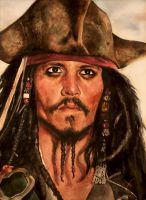 Johnny Depp as Captain Jack Sparrow by Mad-Margaret