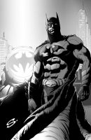BATMAN with tone by stevescott