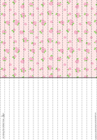 Pink Roses 3 Lucky Paper Stars paper by Heisotsu