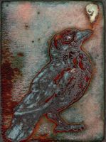 Magnetic Crow enamel by teriathanin