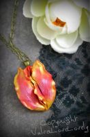Tender Tulip: Floral Vagina Necklace by VulvaLoveLovely