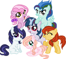 Mane Six Kids ~REDONE by Cookie-Dolls