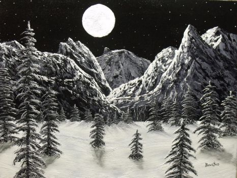 Mountain Moonlight by DonBowling
