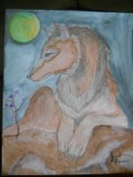 Wolf Painting For SALE by animegirlffx