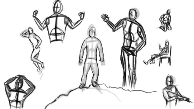 Figure sketches 1 by NUTCASE426