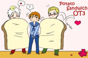 APH - Potato Sandwich by MasterFranny