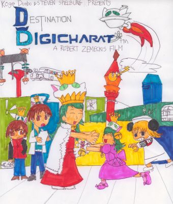 Destination Di Gi Charat Manga Cover by BritishBlaster3000