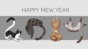 Happy Mew Year! by scriptKittie