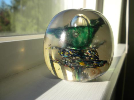 Layered Glass Paperweight by darknessoverfear