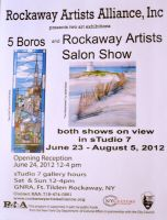 Photo of flyer for 5 Boros Exhibit by ArtieWallace