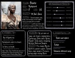 Skyrim Character Ref - Blanche by digipup