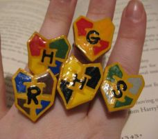 Hogwart Crest Rings by tanytany