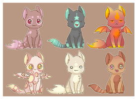 Cat Adoptables [CLOSED] by XAngelFeatherX
