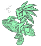 Sonic Sketches: Jet The Hawk by Sitrophe