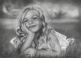 Smiling girl by anjanim