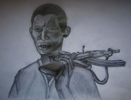 African man with AK by SpeedyydeepS