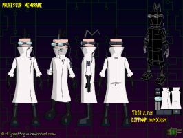 Professor Membrane Model Sheet by cyberplague