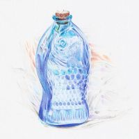 Fish Bottle and Plastic Bag by kittygurl521