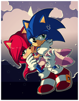Sonic and Akai by ten-heart