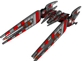 Bounty Hunter Ship: DarkLancer by MechaLord