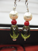 Holly Christmas Earrings by sampdesigns