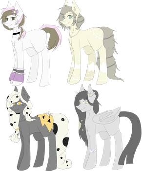 -Adoptables #1- OTA mlp adopts by Mexican-cyborg