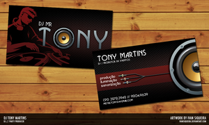 Dj Mr Tony Business Card by ivansiqueira