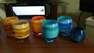 Planet Glassware Set Shelf 3 by devastator006