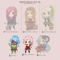 Adoptables Set 05 - Available by arhiee