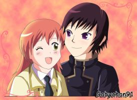 Lelouch x Shirley-Request by Gabychan91