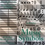 Music Notes Brushes For Photoshop by BeccaB-323-STOCK